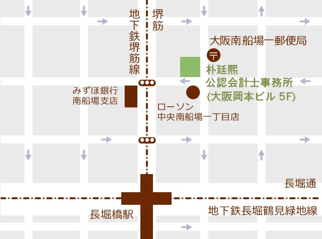 朴廷熙公認会計士事務所 地図